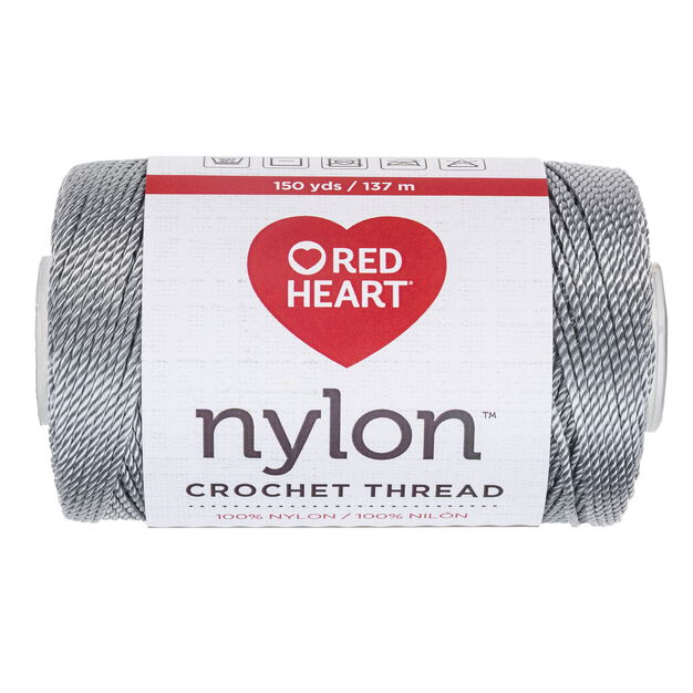 Red Heart Nylon Crochet Thread Size 18, Gray -Clearance Shades* in color Gray