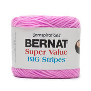 Go to Product: Bernat Super Value Big Stripes Yarn, Candy Floss in color Candyfloss