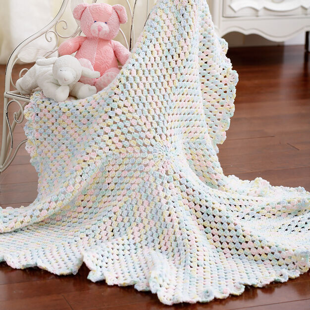 Bernat Round Blanket to Crochet in color