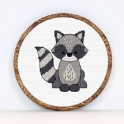 Go to Product: Anchor Raccoon Cross Stitch design in color