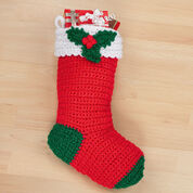 Red Heart Crochet Holly Stocking