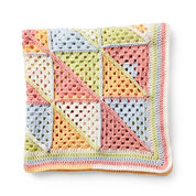 Caron Granny Triangle Patchwork Crochet Blanket