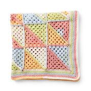 Caron Granny Triangle Patchwork Crochet Blanket