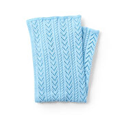 Caron Lace and Cables Baby Blanket