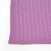 Red Heart Exquisite Cabled Throw, Super Saver