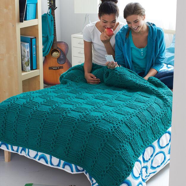 Bernat Garter Blocks Blanket
