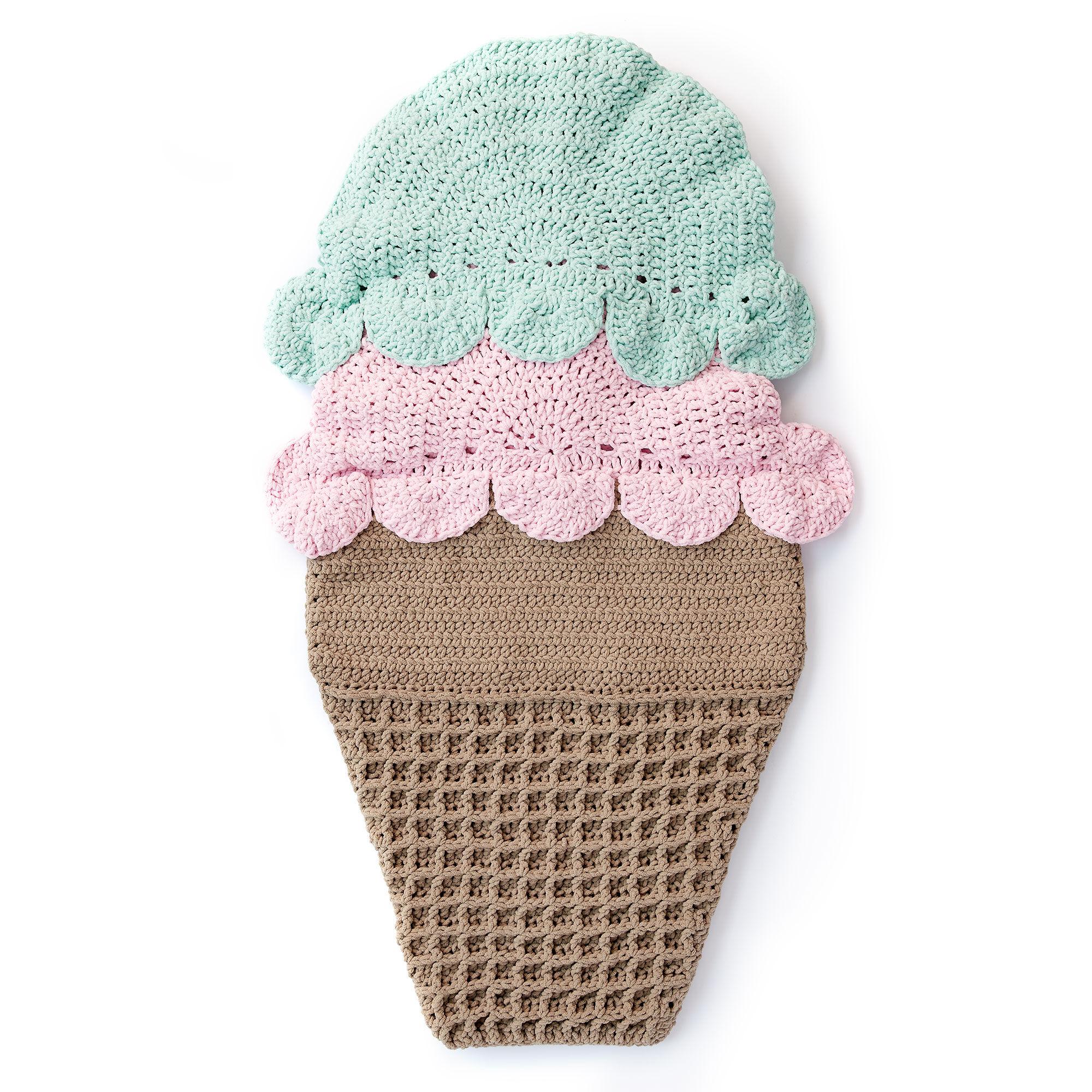 Bernat Double Scoop Crochet Snuggle Sack | Yarnspirations