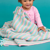 Red Heart Pretty in Pastels Baby Blanket