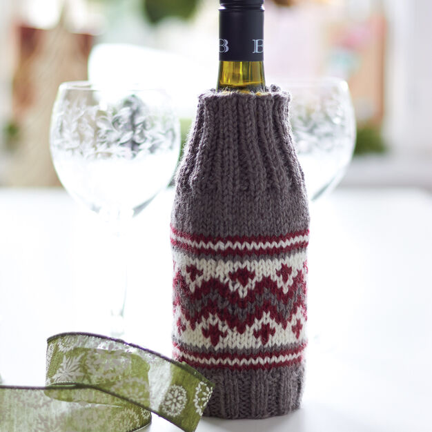 Patons Wooly Wine Cozy in color