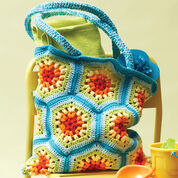 Lily Sugar'n Cream Rainbow Hexagon Beach Bag