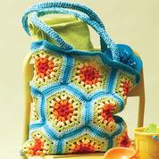 Lily Sugar'n Cream Rainbow Hexagon Beach Bag