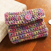 Red Heart Crochet Change Purse