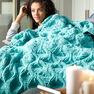 Bernat Diamond in the Rough Knit Blanket in color