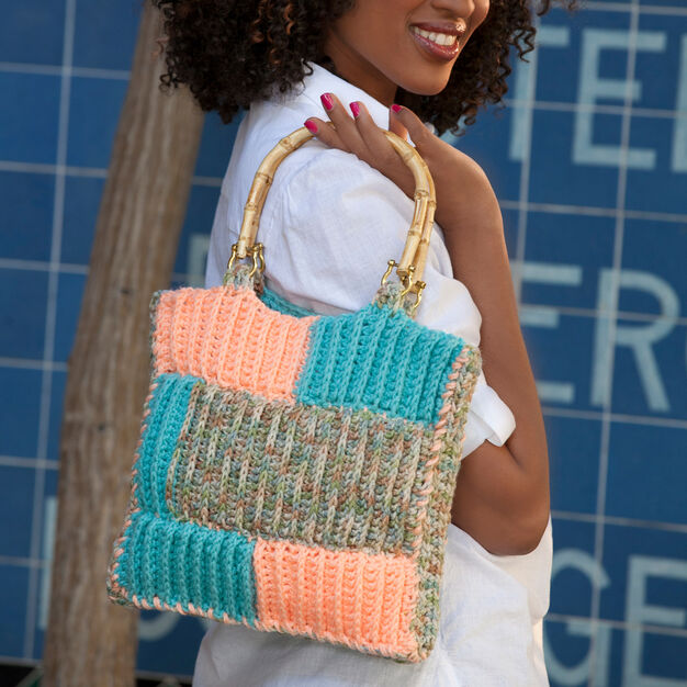 Red Heart Ribbed Project Bag in color