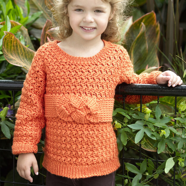 Red Heart Child's Friendship Knot Sweater, 2 yrs in color