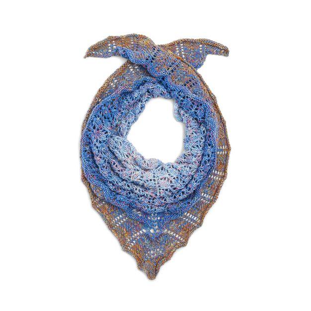 Red Heart Pretty Triangle Knit Shawl in color