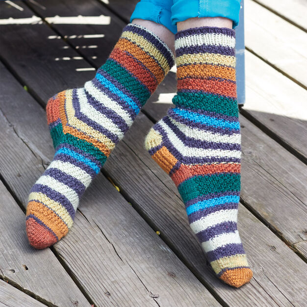 Patons 'Step Dance' Socks, S in color