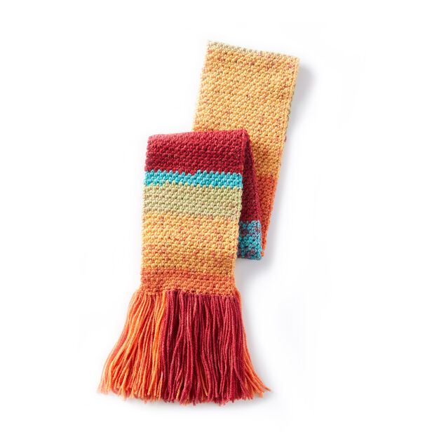 Caron Cakes Simple Texture Crochet Scarf in color