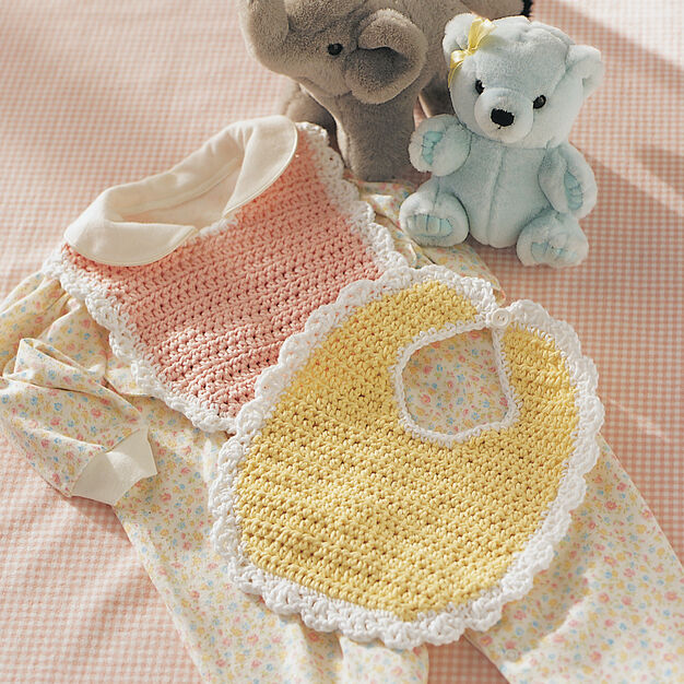 Lily Sugarn Cream Baby Bib Yellow Yarnspirations