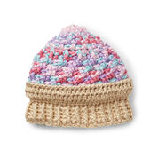 Caron Ice Cream Swirl Crochet Hat, 6-12 mos - Version 1