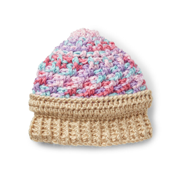Caron Ice Cream Swirl Crochet Hat e059ec07cbcd