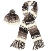 Patons Shaded Stripes Hat & Scarf