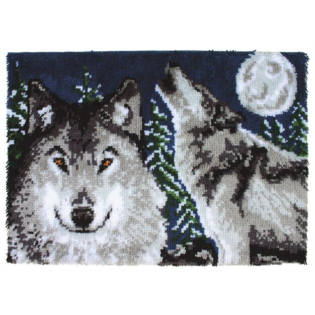 Wonderart Midnight Wolves Kit 27 X 40 in color