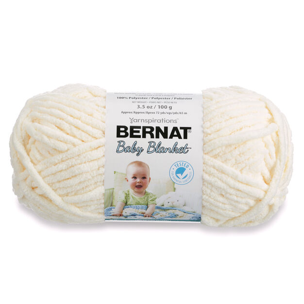 Bernat Baby Blanket Yarn (100g/3.5 oz), Vanilla | Yarnspirations