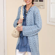 Caron Long & Lacy Knit Jacket, S