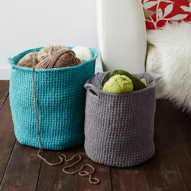 Bernat Stash Basket, Small in color