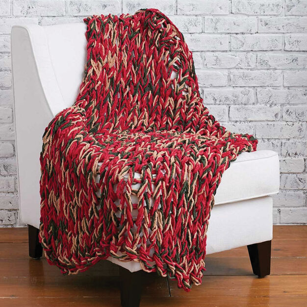 Bernat Arm Knit 3-Hour Holiday Blanket