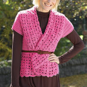 Bernat Crochet Vest with Shawl Collar, XS/M