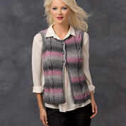 Red Heart Cable Best Vest, S