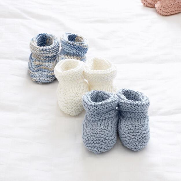 Bernat Baby's Booties, 3 mos in color