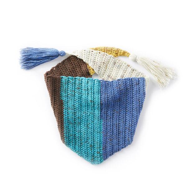 Caron Kerchief Crochet Scarf Pattern Yarnspirations Yarnspirations