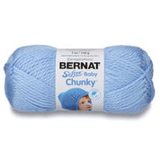 Go to Product: Bernat Softee Baby Chunky Yarn, Clear Skies Blue in color Clear Skies Blue