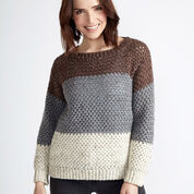 Caron Stepping Stones Crochet Pullover, XS/S