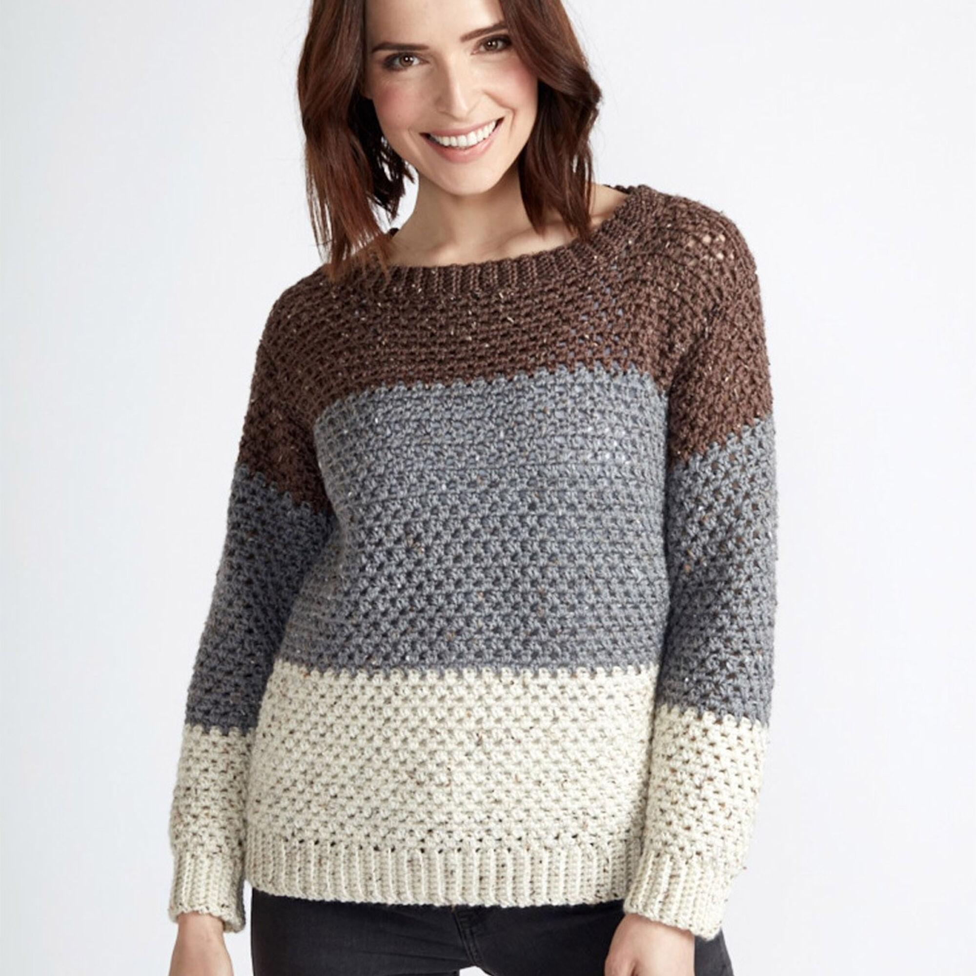 Caron Stepping Stones Crochet Pullover, XS/S | Yarnspirations