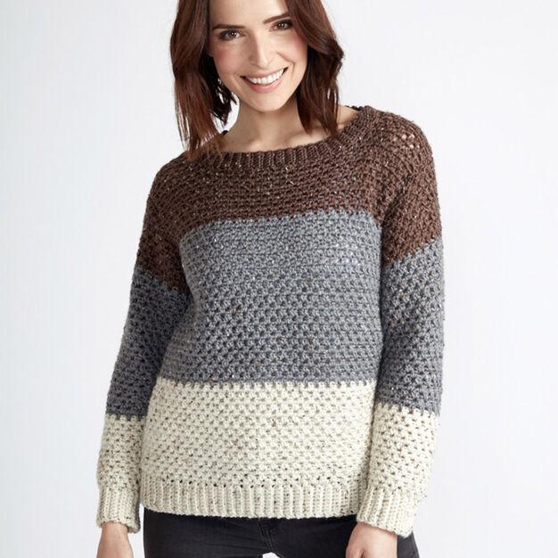 Caron Stepping Stones Crochet Pullover Xss Yarnspirations