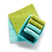 Lily Sugar'n Cream Tidy Up Knit Dishcloth and Basket