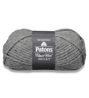 Patons Classic Wool Bulky Yarn, Medium Gray Heather - Clearance Shades*