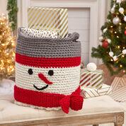 Red Heart Crochet Snowman Basket