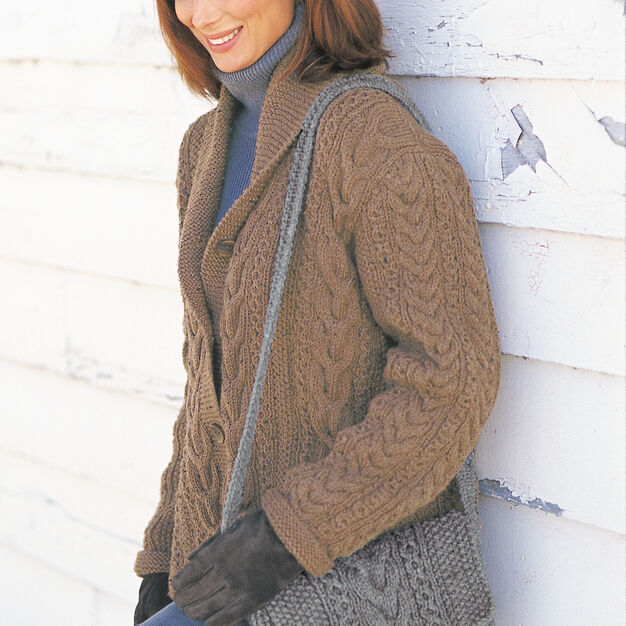Patons Garter and Cables Jacket, S