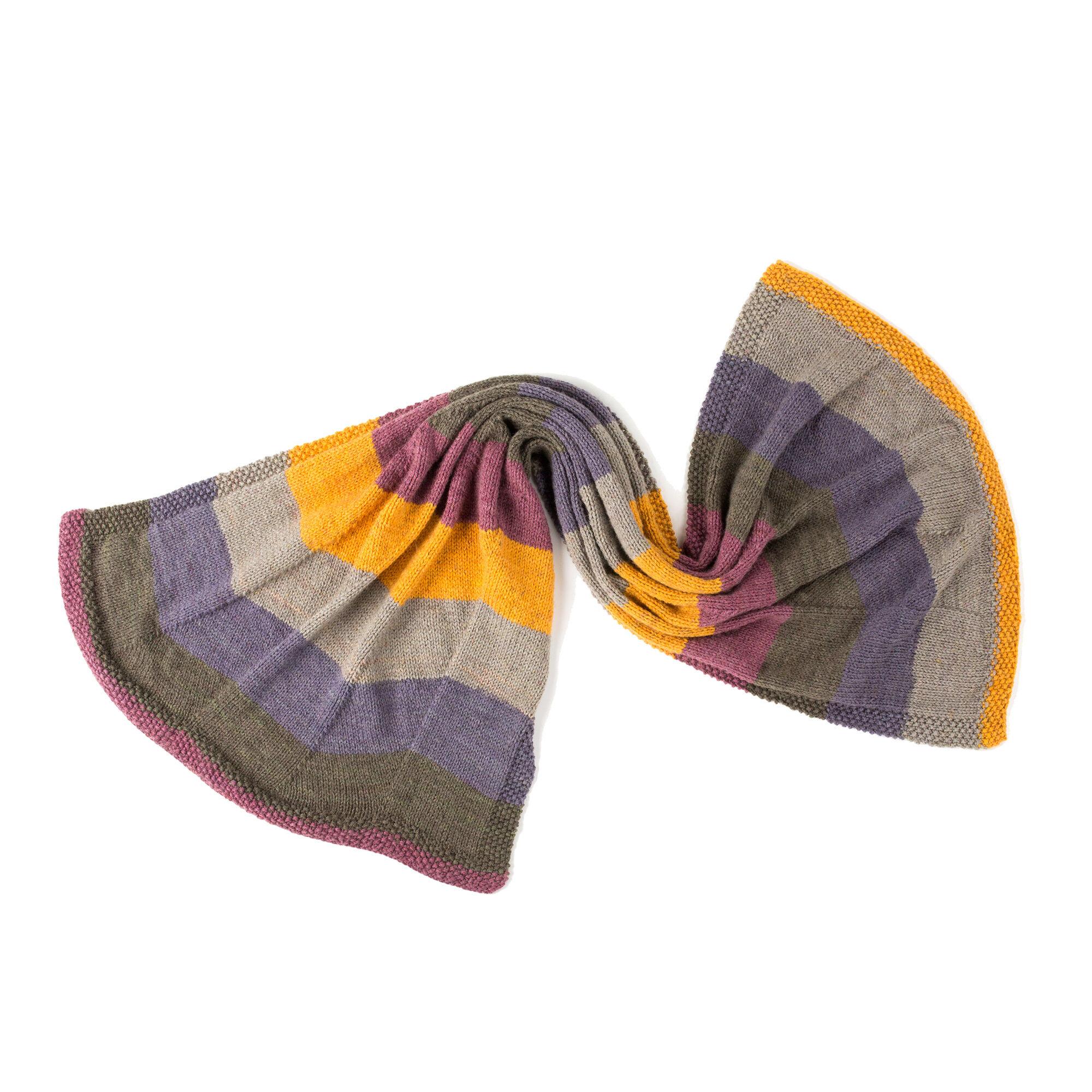 Caron Zig-Zag Knit Shawl Pattern | Yarnspirations