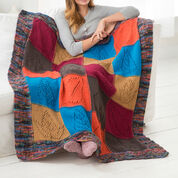 Red Heart Caring Comfort Knit Throw