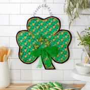 Dual Duty Shamrock Door Hanger for St. Patrick's Day