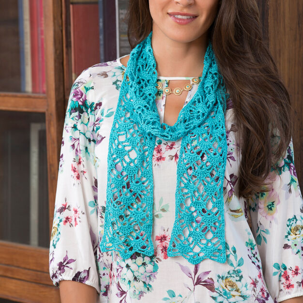 Aunt Lydia's Lacy Crystals Scarf in color