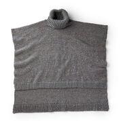 Caron Hi Low Crochet Poncho, XS/M