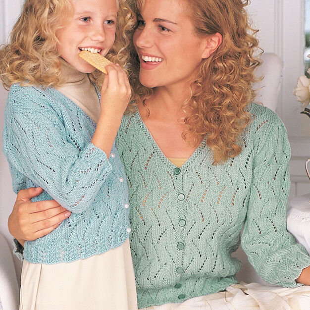 Patons Pretty Lace Cardigan, 4 yrs in color