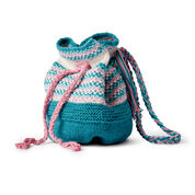 Go to Product: Lily Sugar'n Cream Woven Look Knit Bucket Bag in color